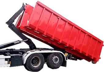 Вывоз мусора контейнером 27 м.куб.